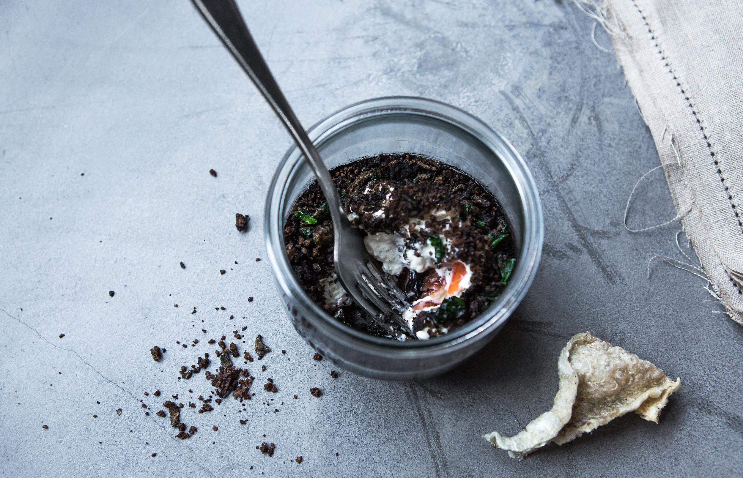 Ресторан Björn - Гравлакс из лосося со сливочным муссом их хрена