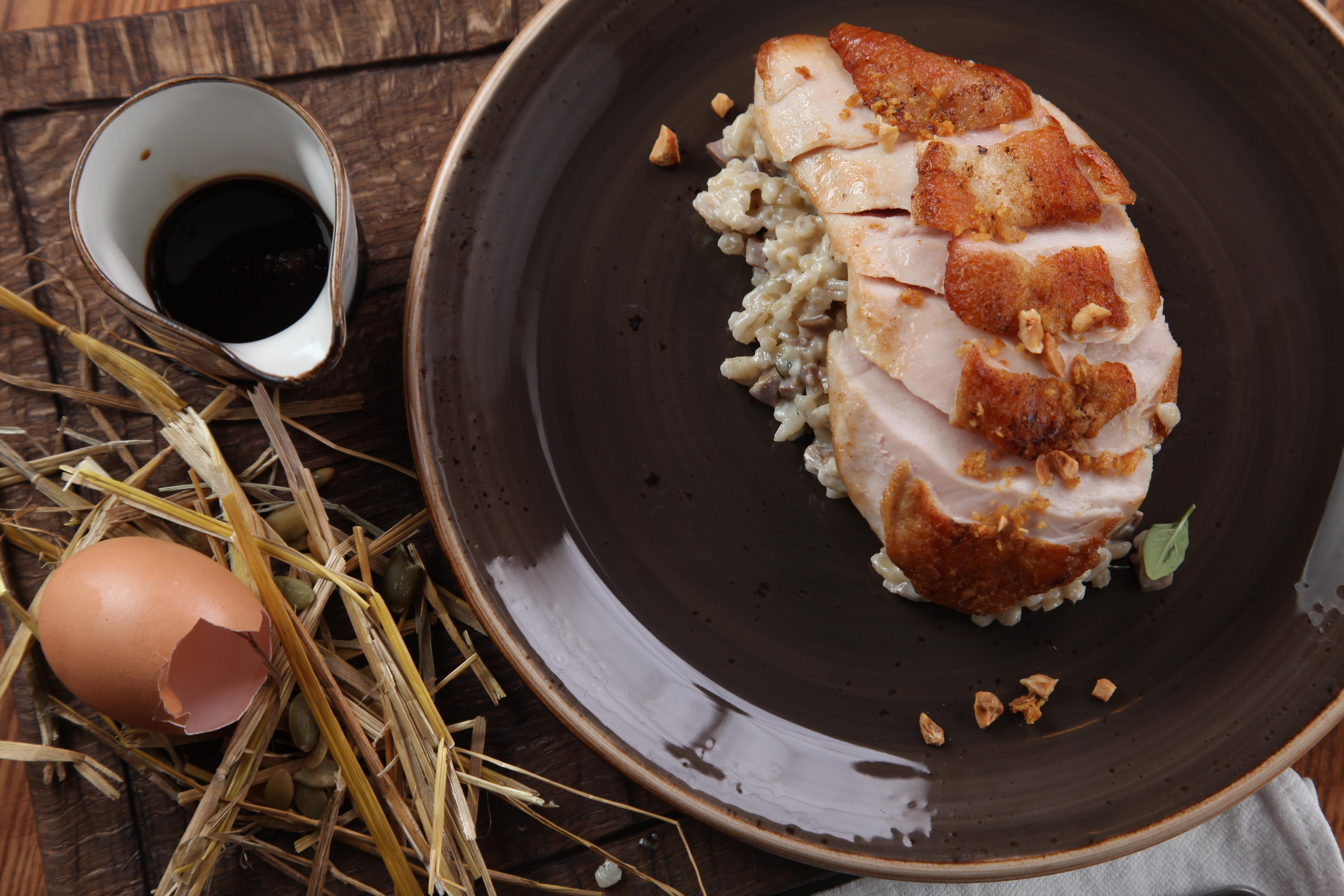 Ресторан Lavkalavka - Куриная грудка и перлотто с куриными поторошками. Курица от Александра Почепцова
